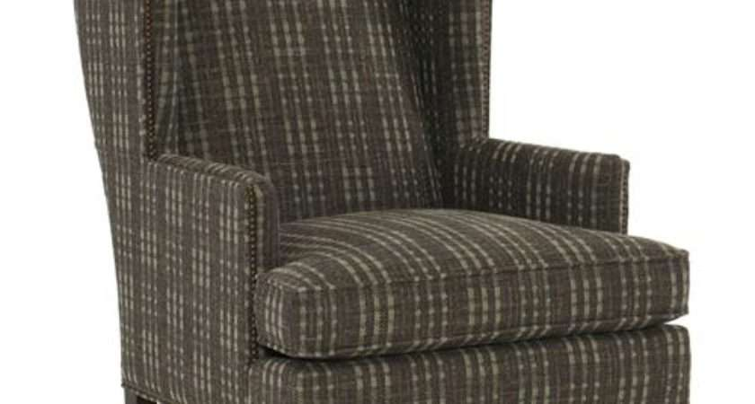Rufus Rustic Lodge Plaid Brown Armchair Kathy Kuo Home