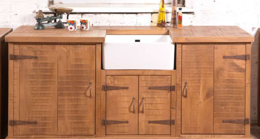 Rustic Belfast Sink Kitchen Unit Hand Made Can
