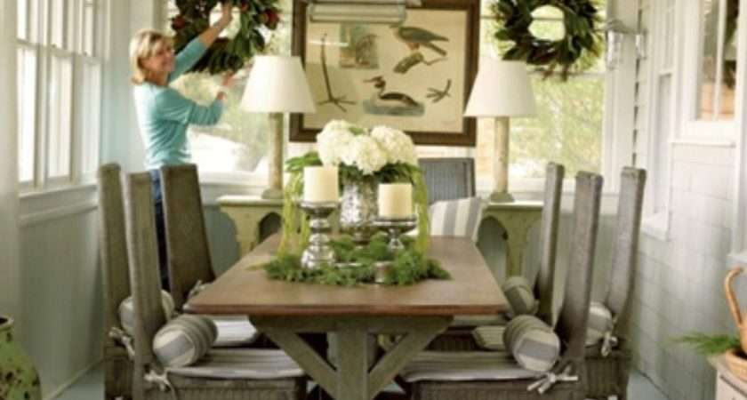 Rustic Dining Room Decorating Ideas Large Beautiful