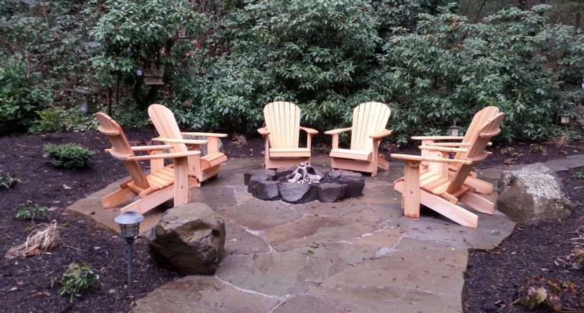 Rustic Gas Fire Pit Mercer Island Sublime Garden Design