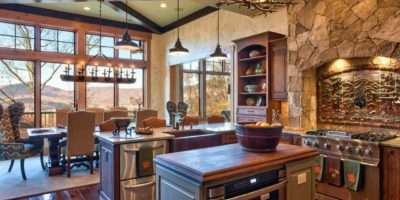 Rustic Stone Kitchen Country Appeal Heather Guss Hgtv