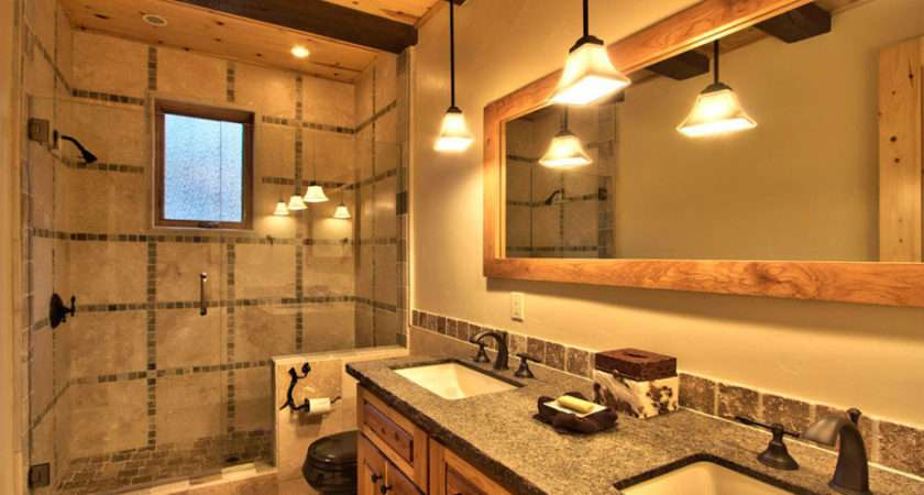 Rustic Style Bathrooms Mountain Home Decorated