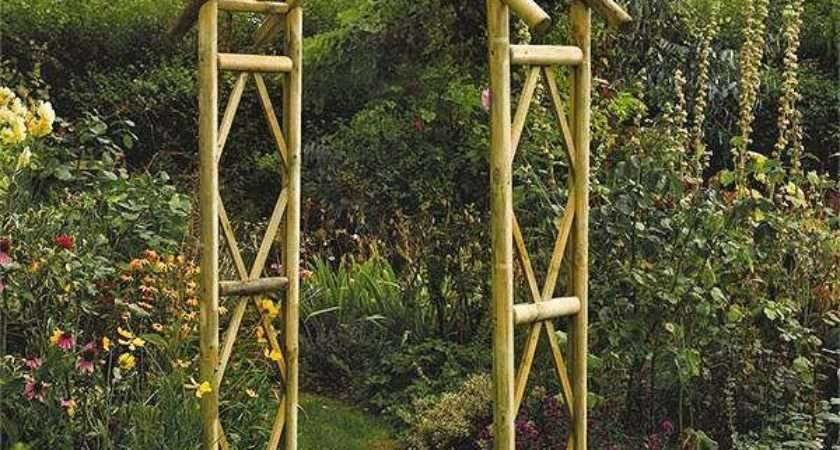 Rustic Style Wooden Garden Arch