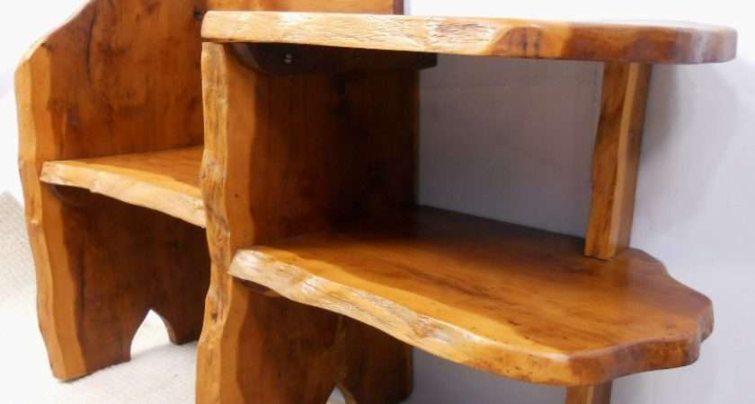 Rustic Wooden Seat Hall Table Sold