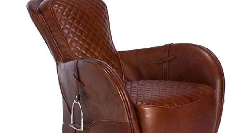Saddle Leather Chair Magnolia Home Furniture Ivory