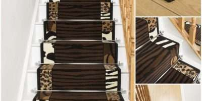 Safari Animal Print Stair Carpet Runner Narrow