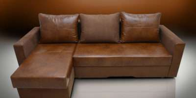 Sale Real Leather Bristol Corner Sofa Bed