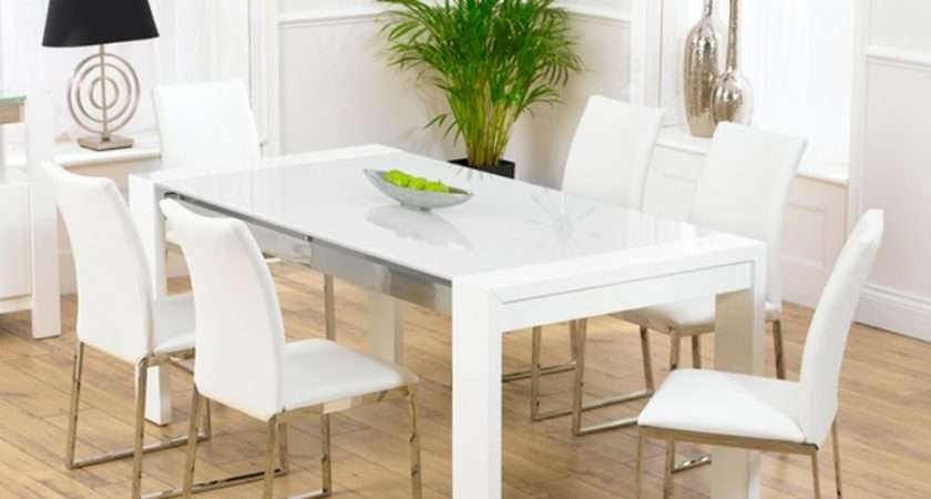 Scala White Gloss Dining Table Chairs