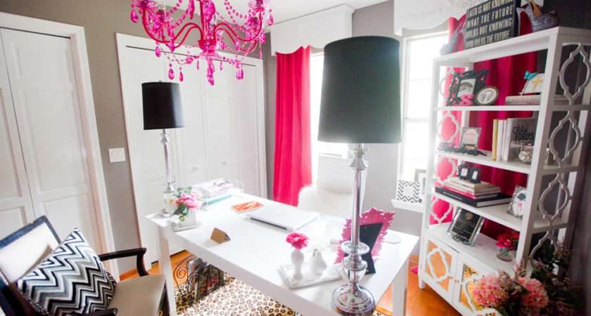 Scarlett Lillian Glamourous Pink Home Office Sayeh