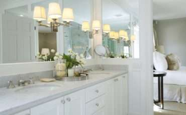 Sconces Mirror Transitional Bathroom Ashley