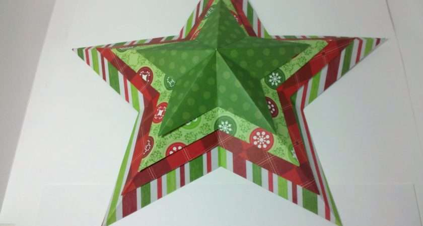 Scrappin Cat Creative Endeavors Origami Stars Christmas Style