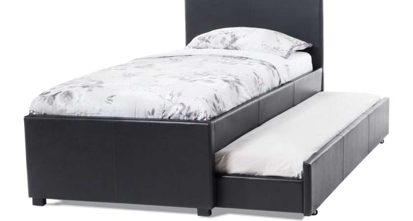 Serene Carra Brown Faux Leather Guest Bed Station