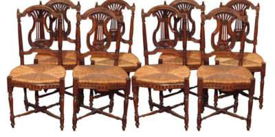 Set Antique French Country Dining Room Chairs Stdibs