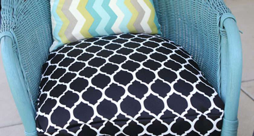Sew Half Round Seat Cushion Cover
