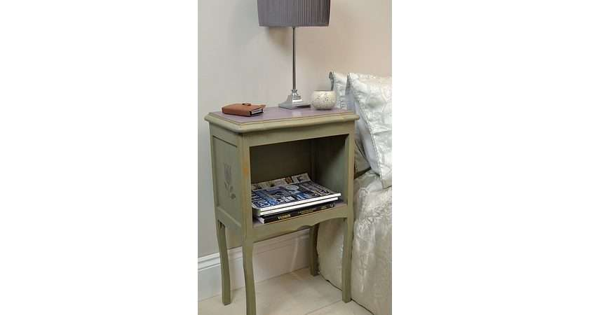 Shabby Chic Bedside Table Flower Detail Side Tables