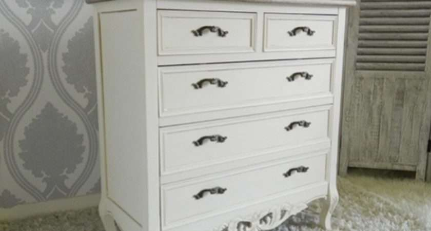 Shabby Chic Chateau Range Vintage Chest Drawers
