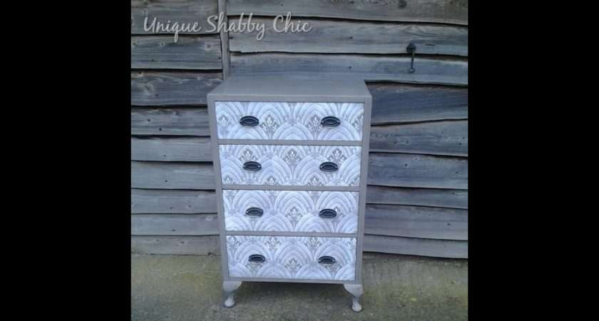 Shabby Chic Chest Drawers Lace Effect