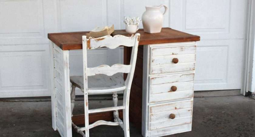 Shabby Chic Desks Drawers White Paint Color