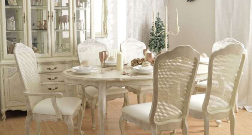 Shabby Chic Dining Table Chairs Set Best Ideas