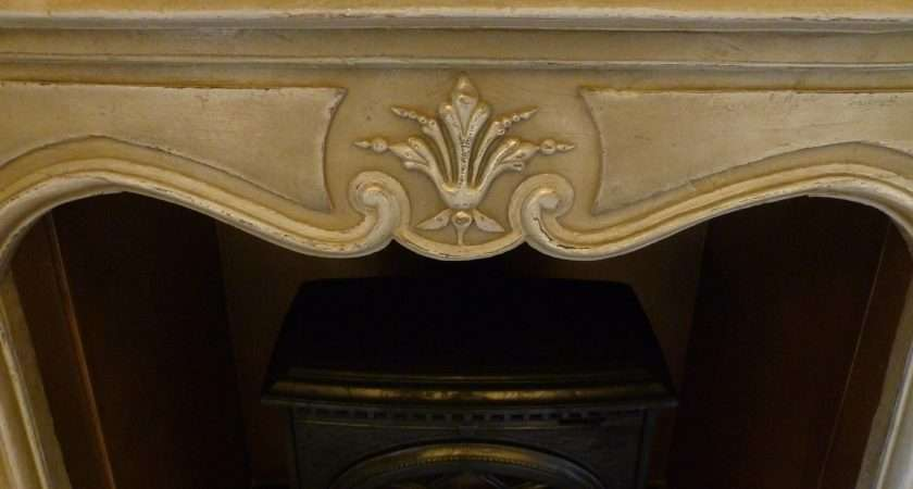 Shabby Chic Fireplace Gold Paint Effect