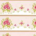 Shabby Chic Floral Bouquet Border Fawn