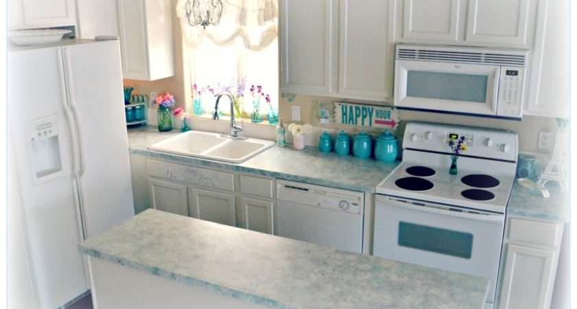 Shabby Chic Giani Granite Countertop Paint One Year Later
