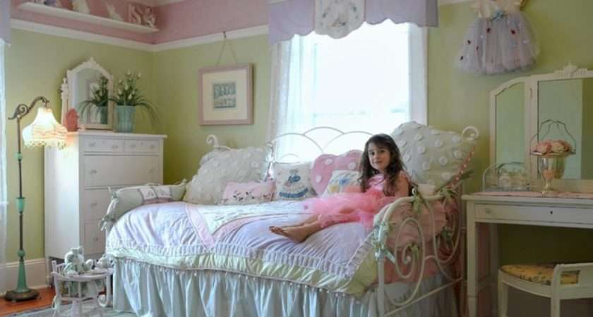 Shabby Chic Girl Room Traditional Bedroom New York