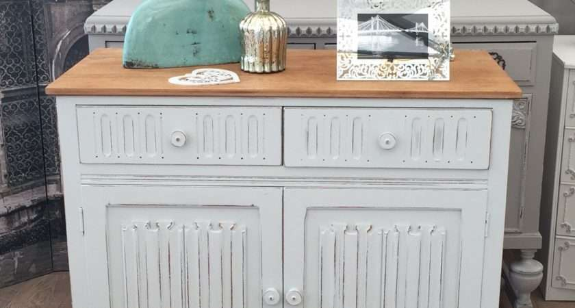 Shabby Chic Oak Cabinet Two Drawers