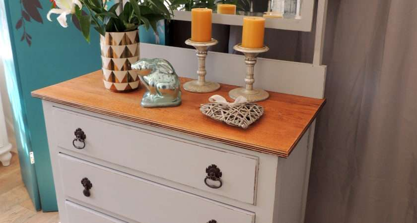 Shabby Chic Oak Dressing Table Sold