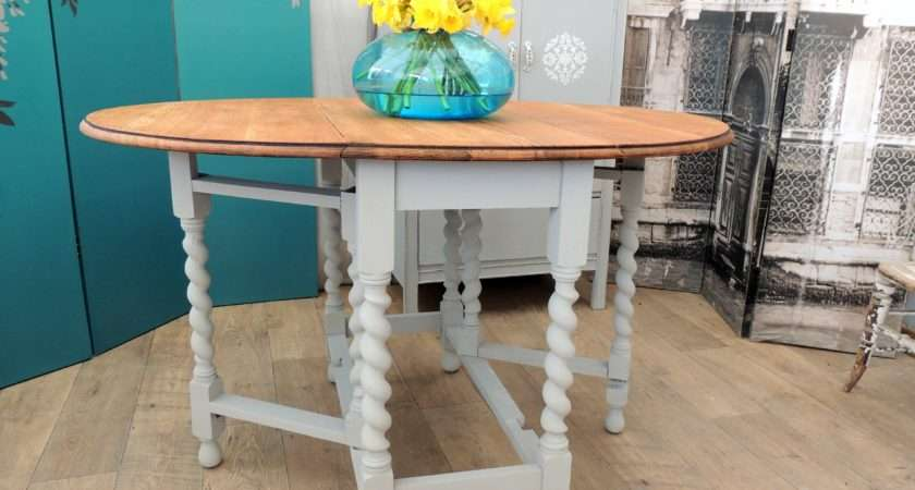 Shabby Chic Oak Gate Legs Dining Table People Eclectivo