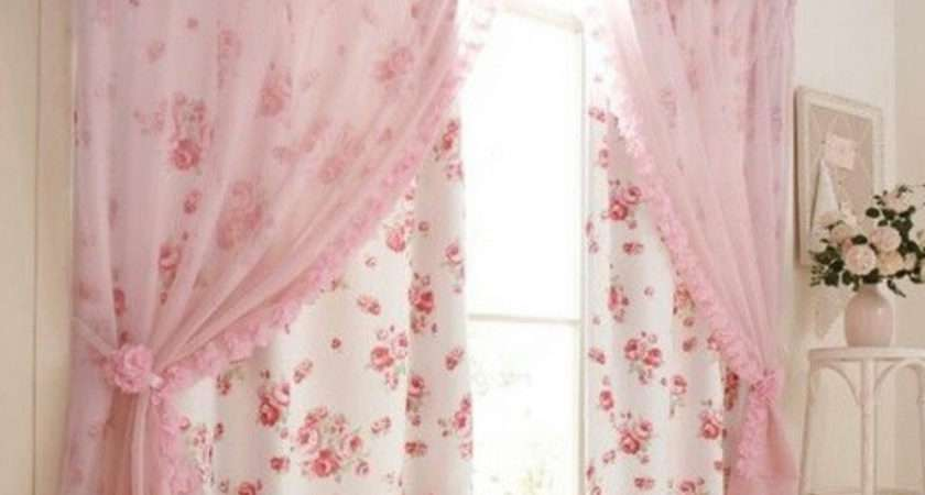 Shabby Chic Pink Curtains Curtain Some
