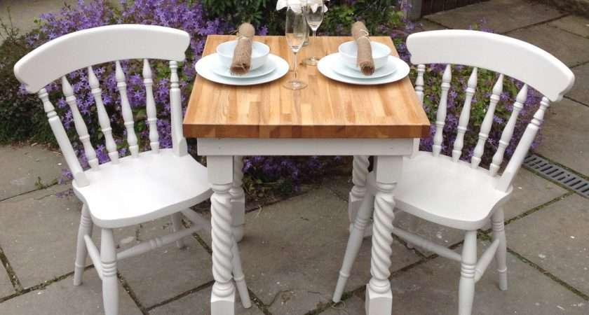 Shabby Chic Solid Oak Dining Table White Chairs Chick