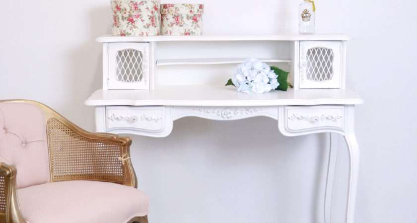 Shabby Cottage Chic French Vintage Style Mesh Desk