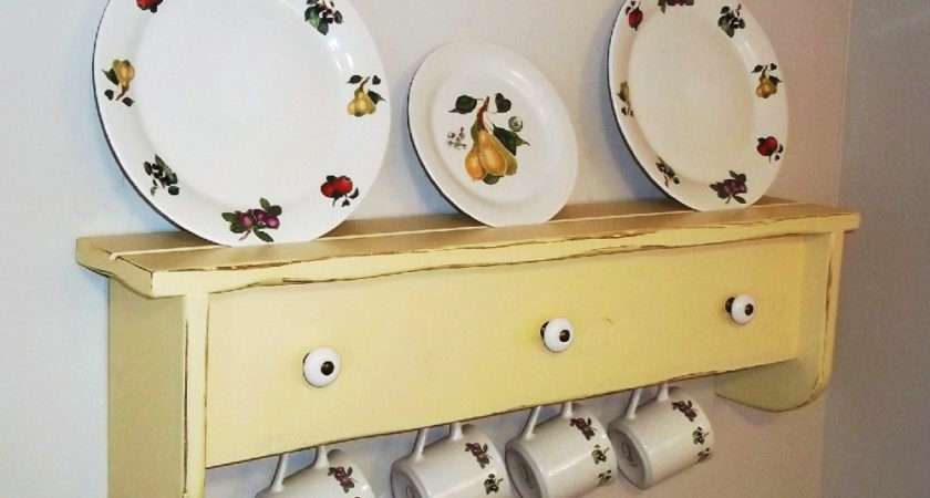 Shabby Wall Shelf Furniture Plate Holder