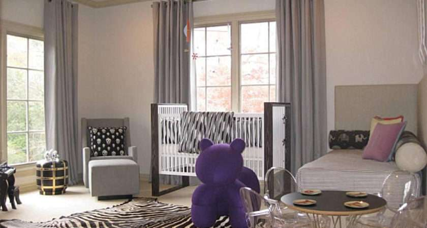 Shades Beige Purple Modern Nursery Decoist