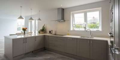 Shaker Kitchen Stone Grey Panorama Kitchens