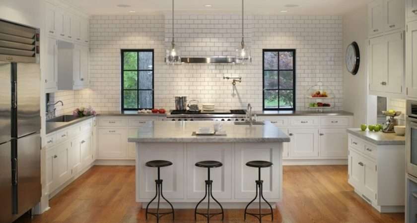 Shaped Kitchen Design Transitional