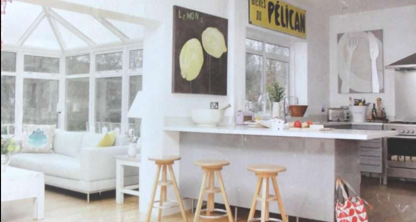Shaped Kitchen Diner Incorporating Conservatory Cozy