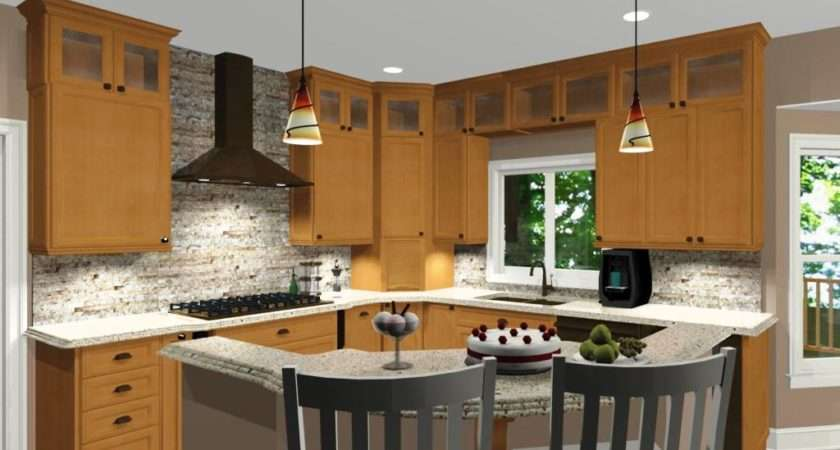 Shaped Kitchen Island Designs Seating Home Design