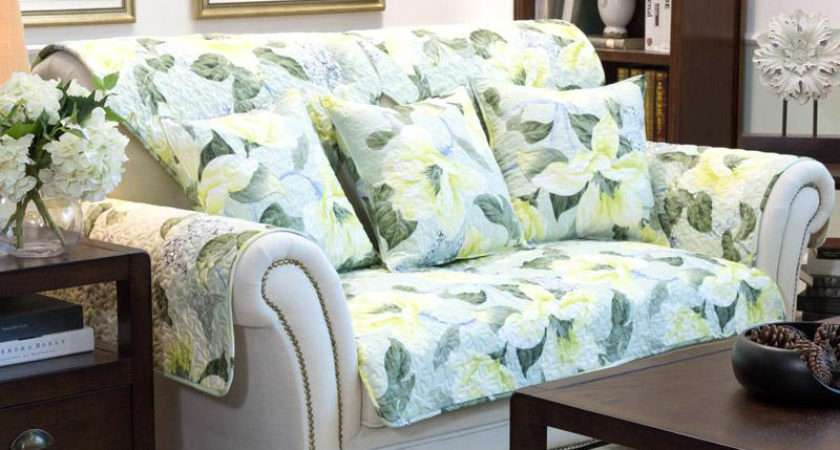 Shipping American Style Green Floral Print Quilting