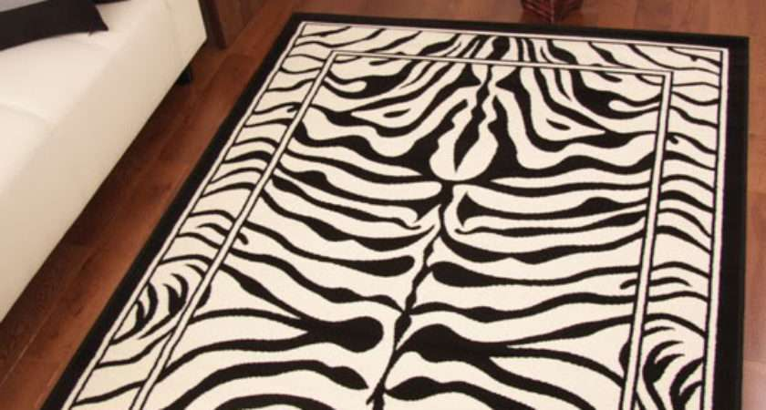 Shiraz Modern Black Ivory Zebra Print Long Hall Runner Rug