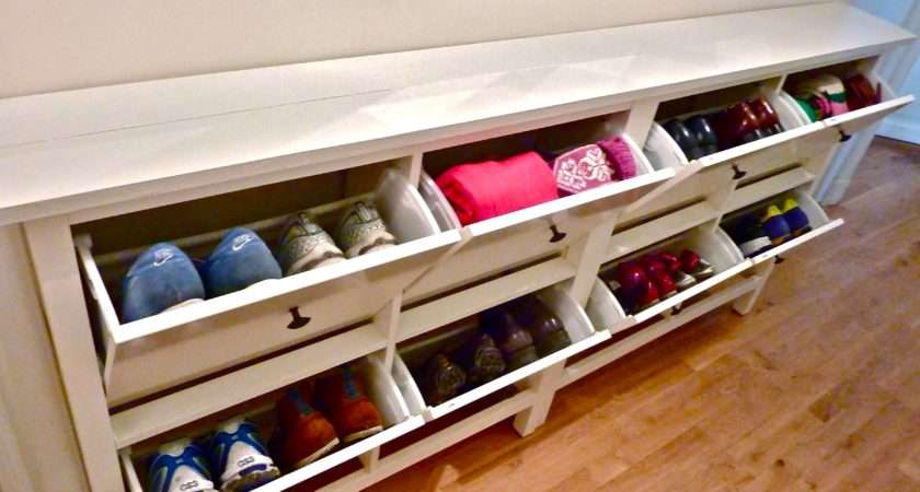 Shoe Storage Bench Ideas