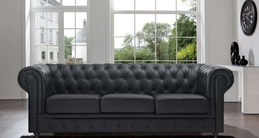 Shop Madison Home Chesterfield Tufted Scroll Arm Black