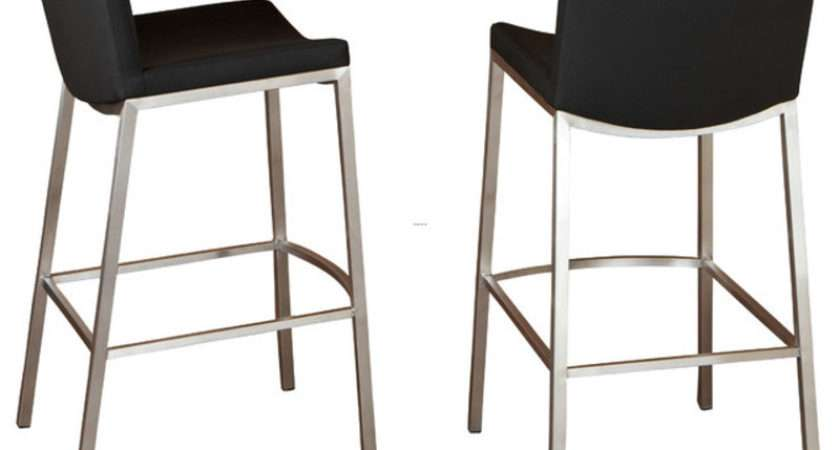 Shop Steel Black Vinyl Stool Bar Stools Counter