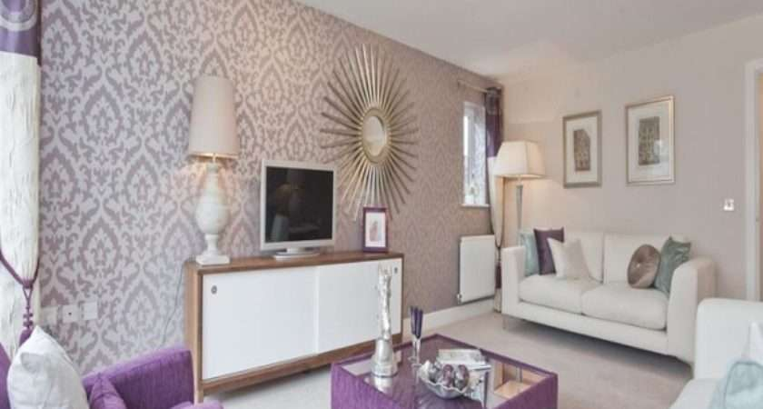 Show House Bedroom Ideas Purple Beige Living Room