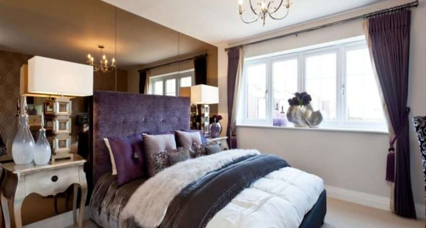 Show House Bedroom Ideas Purple Beige