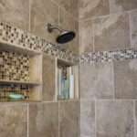 Shower Tile Designs Ideas Bottle Shampoo