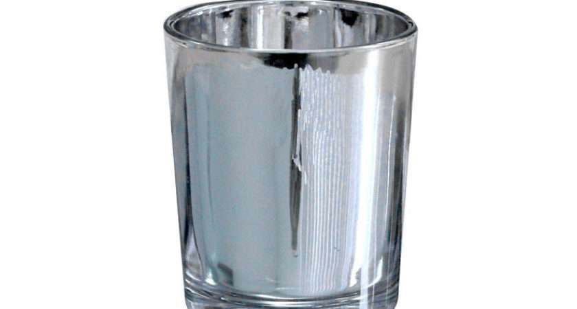 Silver Cylinder Votive Florist Sundries Direct