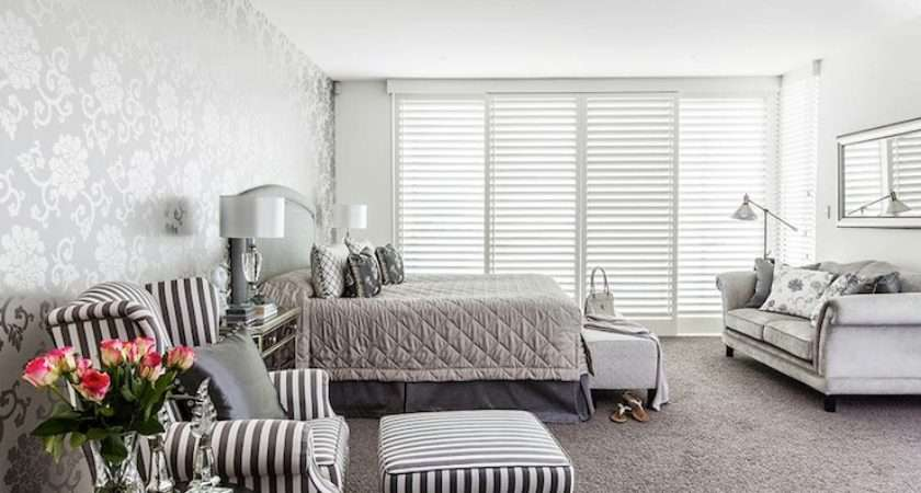 Silver Gray Bedroom Contemporary Highgate Home