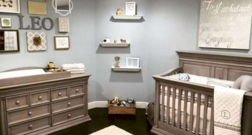 Simple Baby Boy Nursery Room Design Ideas Round Decor